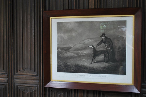 'Snowball the Greyhound' Framed Engraving