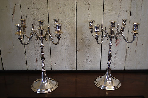Pair of Silver Plate Georgian Style Candelabras