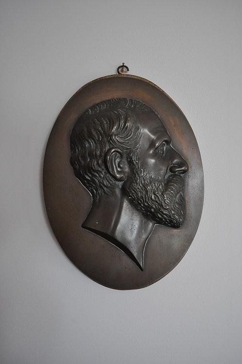 Bronze Portrait Plaque of a Gentleman