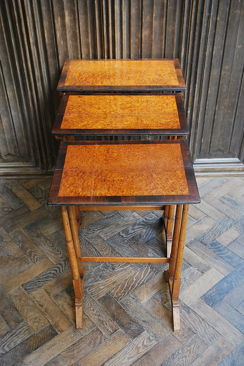 A Nest of Three Antique French Tables