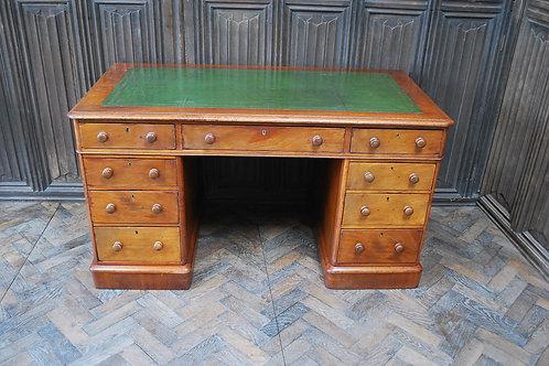 Mahogany Pedestal Writing Desk