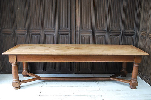 Large Antique English Oak Farmhouse Table