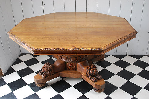 Octagonal French centre table