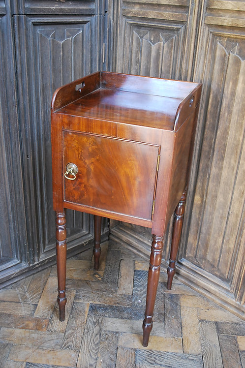 Gillows Style Mahogany Bedside Cabinet