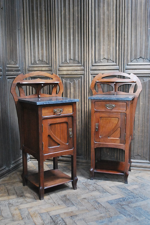 Pair of Art Nouveau Bedside Cabinets