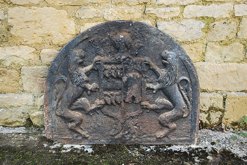 17th Century Cast Iron Fire Back