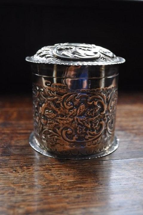 Antique Solid Silver Tea Caddy