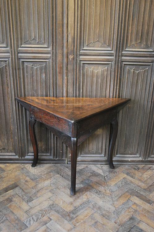 French triangular oak side table
