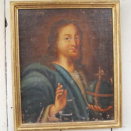 Oil on Canvas Portrait of a Saint