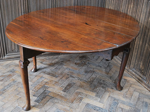 English Walnut Dropleaf Dining Table