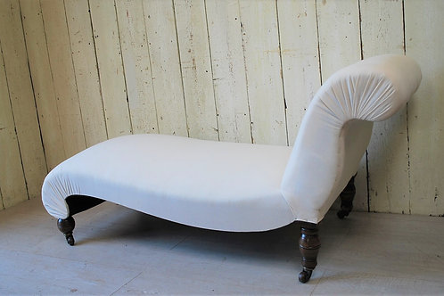 Antique English 19th Century Chaise Longue/seat