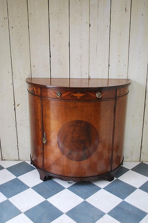 Demi Lune Sheraton Style Commode / Cabinet