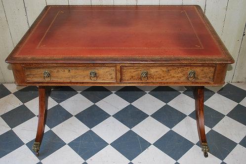Regency Mahogany Library Table/ Desk
