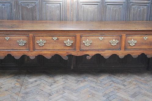Rare Georgian four drawer dresser base