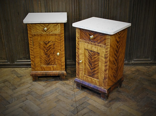 Pair of painted bedside cabinets /nightstands