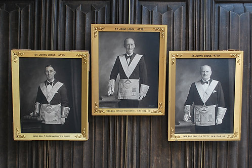 Set of Three Masonic Photographs,St John Lodge