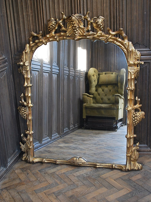 Large English Giltwood Overmantle Mirror