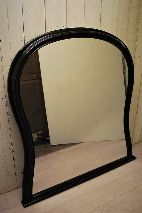 Antique English ebonised Overmantle Mirror