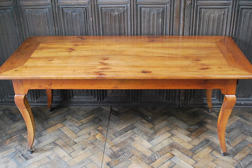 Antique French Cherry Wood Farmhouse Table