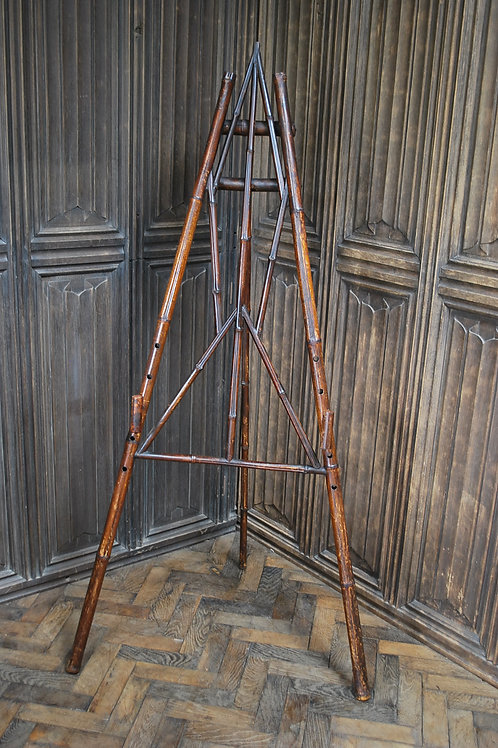 Unusual Antique Bamboo Studio Easel