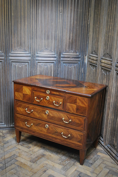 Italian Tulipwood Commode Chest