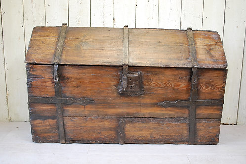 Antique French 17Th-Century Maritime Strong Box/ Coffre Forte