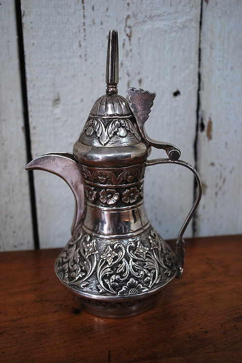 Silver Islamic coffee pot