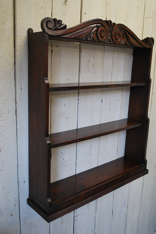 Antique mahogany Regency hanging shelves