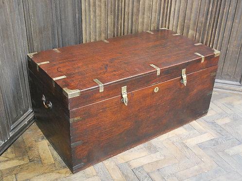 Antique Indian Teak Campaign Box