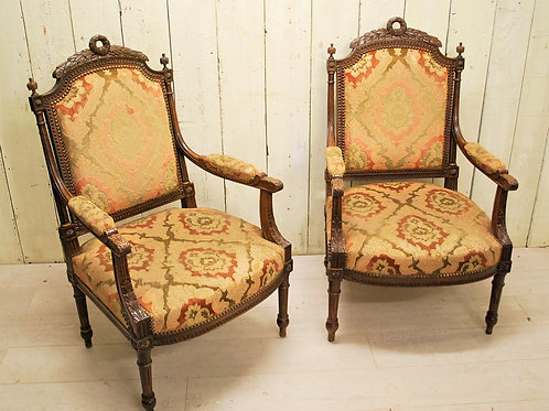 Pair of French Armchairs / Fauteuils