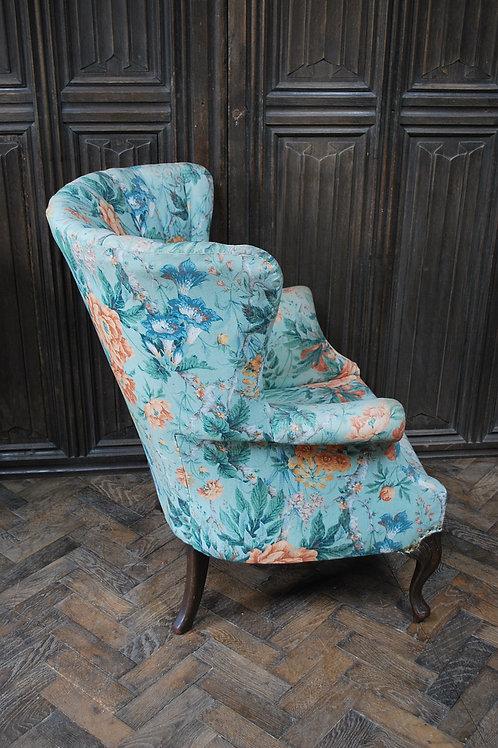 Barrel Back Upholstered Armchair