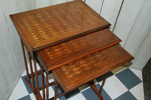 Antique French Rosewood Nest of Tables ,side tables