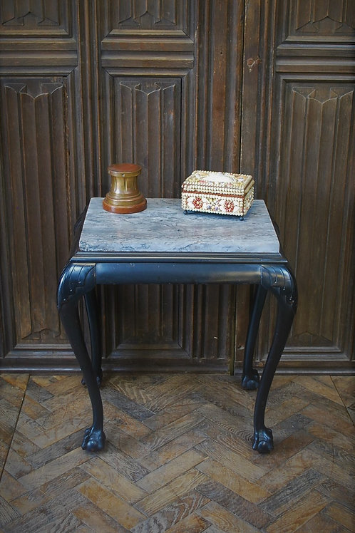 Antique ebonised occasional table