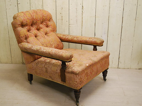 Antique English Country House Open Armchair