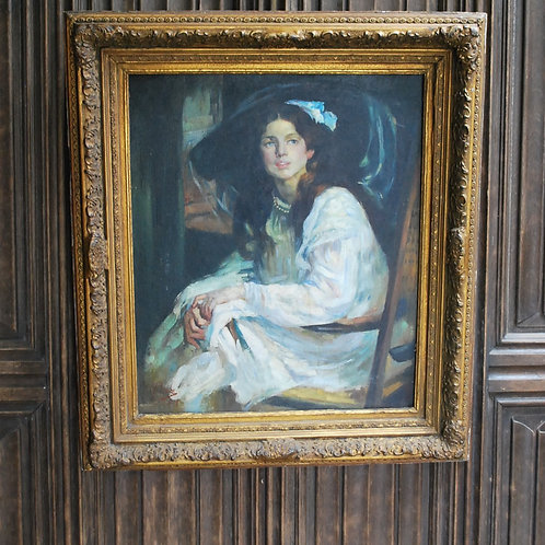 Impressionist Portrait of a Lady ,oil on Board