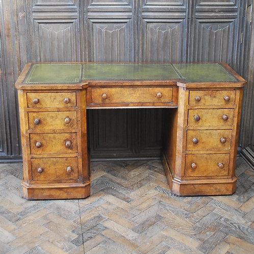 Antique Walnut pedestal desk