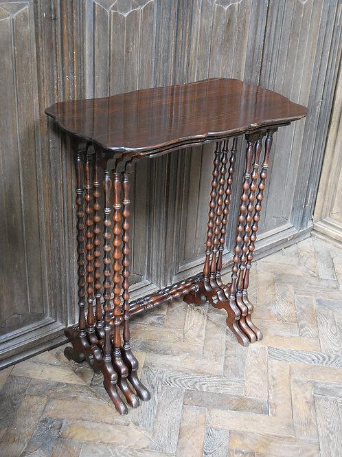 Nest of three bobbin tables
