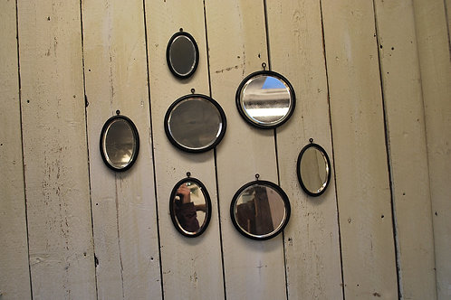 Group of antique Ebony Mirrors