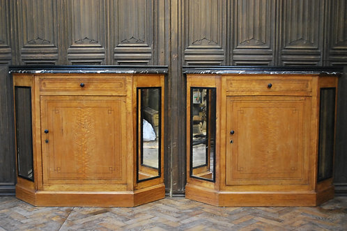 Pair of French Biedermeier side cabinets