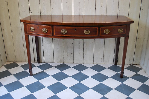 Antique Sheraton Bow Fronted Serving / Console Table