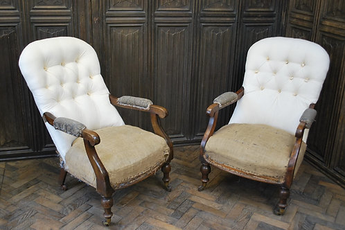 Pair of Scottish Upholstered Armchairs