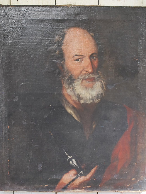17th-Century Portrait of a Gentleman/oil on canvas