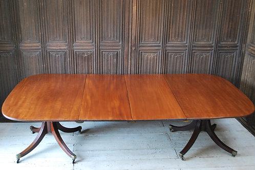 Georgian Twin Pedestal Dining Table