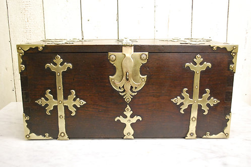 Early 18th Century Antique Spanish Strong Box / Treasure Chest Ref: 273