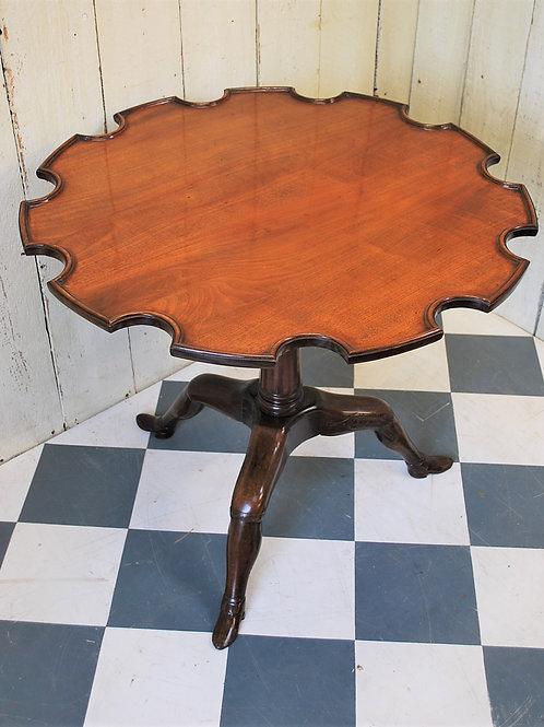 Rare Georgian Mahogany Manx Tripod Table