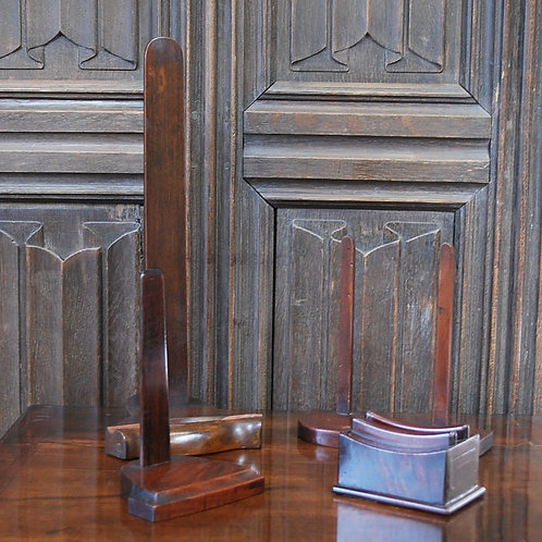 Four Mahogany Plate/charger Stands