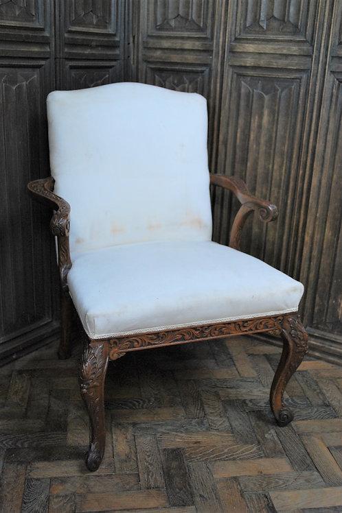 Antique Gainsborough Style Open Armchair