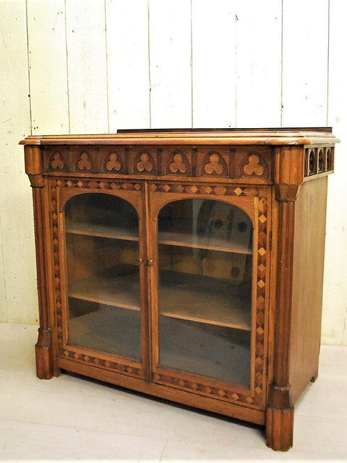 Antique French Gothic Style Side Cabinet