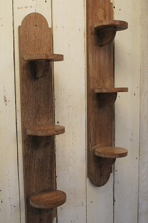 Pair of Arts and Crafts Shelves