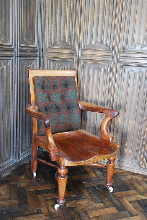 Antique English 19th Century Mahogany Desk Chair